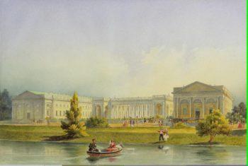 Alexander Palace in Tsarskoye Selo | Gornostayev Alexei | oil painting