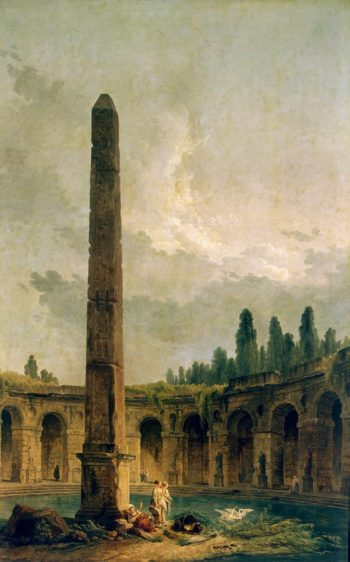 Decorative Landscape with an Obelisk | Hubert Robert | oil painting