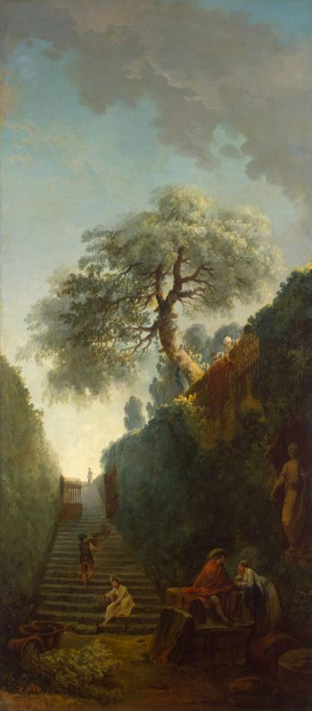 Green Wall | Hubert Robert | oil painting