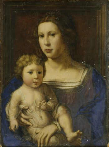 Madonna with the Child (replica) | Gossaert Jan (Mabuse) | oil painting