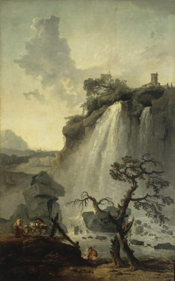 Landscape with a Waterfall | Hubert Robert | oil painting