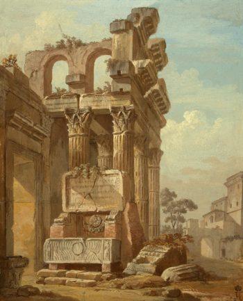 Ancient Ruins | Clerisseau Charles-Louis | oil painting