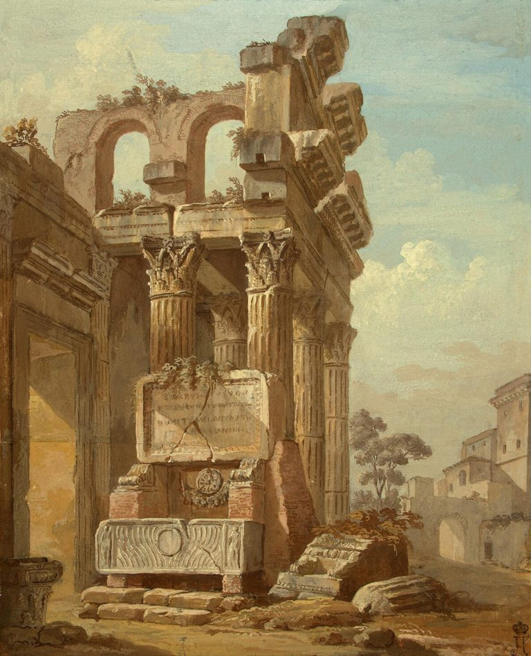 Ancient Ruins | Clerisseau Charles-Louis | oil painting