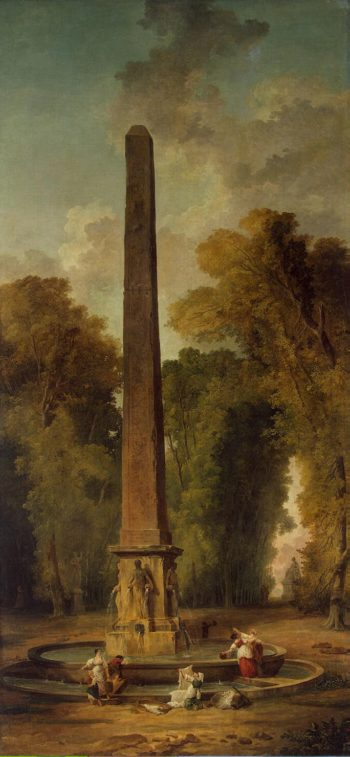 Landscape with an Obelisk | Hubert Robert | oil painting