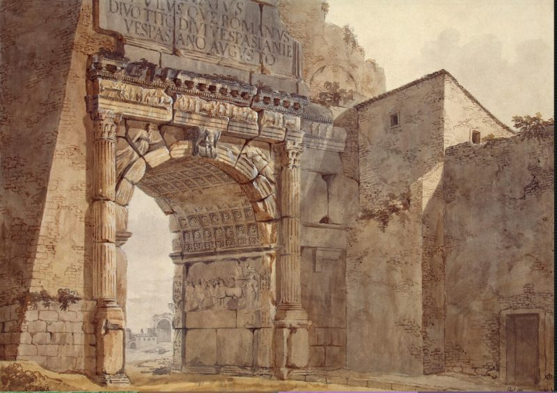 Arch of Titus in Rome | Clerisseau Charles-Louis | oil painting