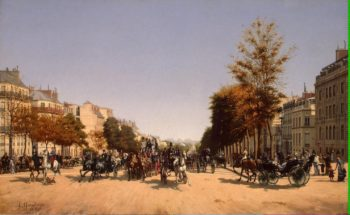 View of the Champs-Elysees from the Place de lEtoile in Paris | Grandjean Edmond Georges | oil painting