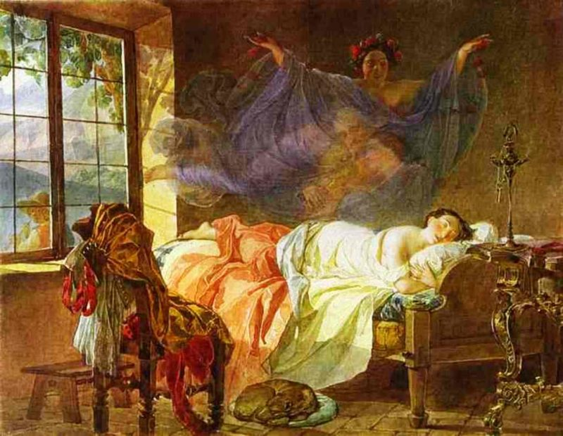 A Dream of a Girl Before a Sunrise 1830 1833 | Karl Brulloff | oil painting