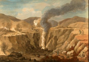 Crater of Vesuvius | Clerisseau Charles-Louis | oil painting