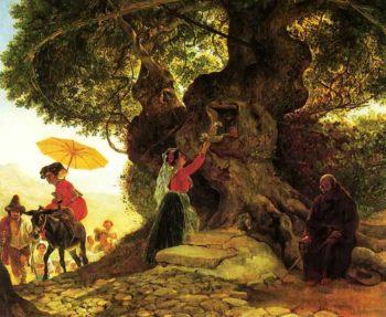 By the Bogoroditsky Oak 1835 | Karl Brulloff | oil painting
