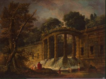 Pavilion with a Cascade | Hubert Robert | oil painting