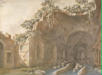 Grotto of Nymph Egeria | Clerisseau Charles-Louis | oil painting