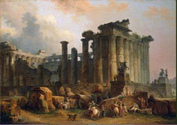 Ruins of a Doric Temple   Hubert Robert   oil painting
