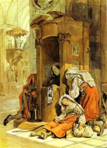 Confession of an Italian Woman 1827 1830 | Karl Brulloff | oil painting