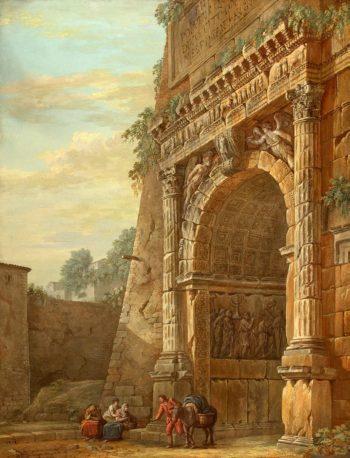 Triumphal Arch of Titus in Rome | Clerisseau Charles-Louis | oil painting