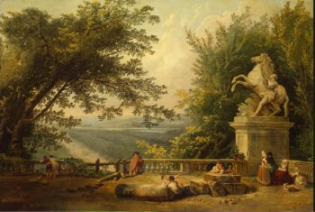 Ruins on the Terrace in Marly Park | Hubert Robert | oil painting