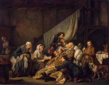 Filial Piety (The Paralytic)   Greuze Jean-Baptiste   oil painting