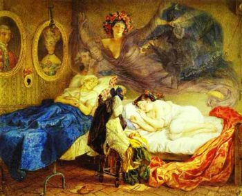 Dreams of Grandmother and Granddaughter 1829 | Karl Brulloff | oil painting