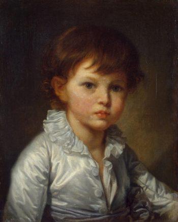 Portrait of Count Pavel Stroganov as A Child   Greuze Jean-Baptiste   oil painting