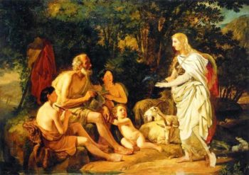 Erminia and the Shepherds Unfinished 1824 | Karl Brulloff | oil painting