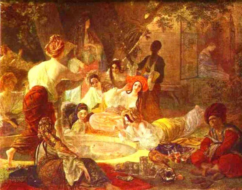 Fountain in Bakhchi Sarai 1849 | Karl Brulloff | oil painting