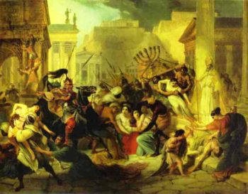 Genserichs Invasion of Rome Study 1833 1835 | Karl Brulloff | oil painting