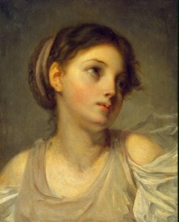 Young Girl in a Lilac Tunic | Greuze Jean-Baptiste | oil painting
