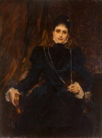 Portrait of Marina Derviz | Constant Jean Joseph Benjamin | oil painting