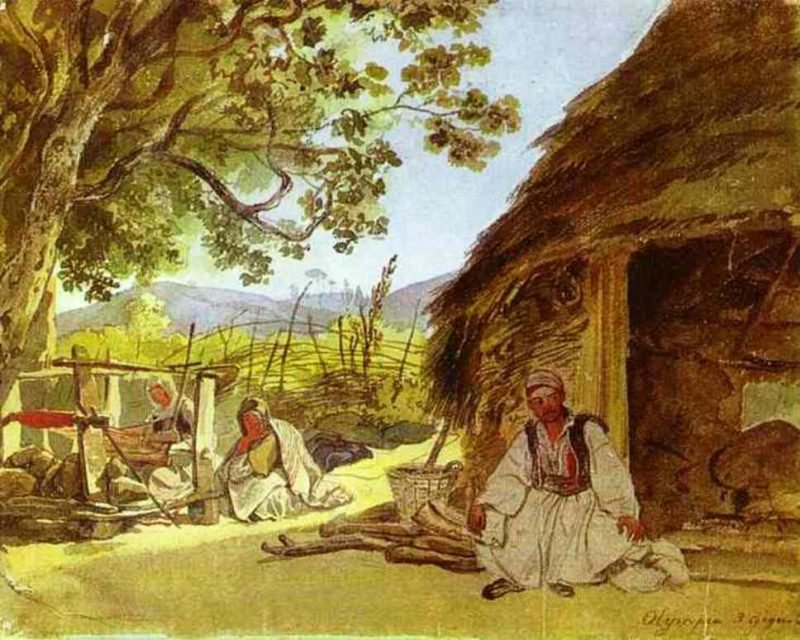Greek Morning in Myraca 1835 | Karl Brulloff | oil painting