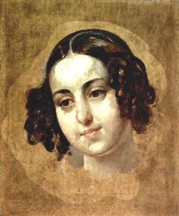 Head of Girl 1830 | Karl Brulloff | oil painting