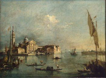 View of the Island of San Giorgio Maggiore | Guardi Francesco | oil painting