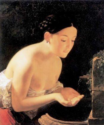 Italian morning 1823 | Karl Brulloff | oil painting