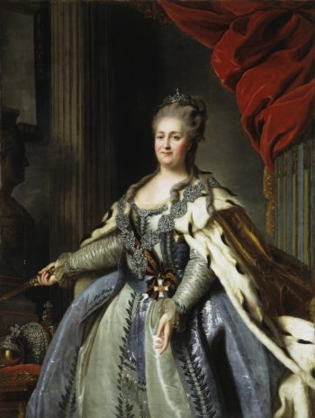 Portrait of Catherine II | Rokotov Fyodor | oil painting