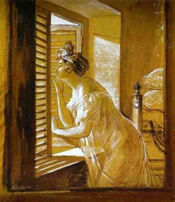 Italian Woman Blowing a Kiss 1826 | Karl Brulloff | oil painting