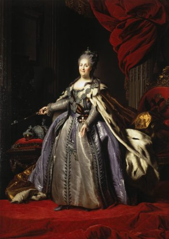 Portrait of Catherine II (copy) - JR | Rokotov Fyodor | oil painting