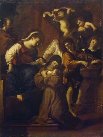Vision of St Clare | Guercino (Giovanni Francesco Barbieri) | oil painting