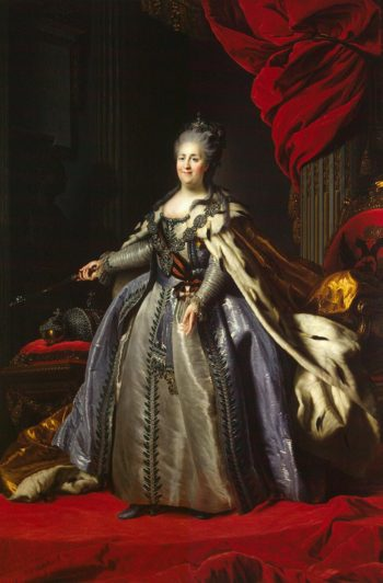 Portrait of Catherine II (copy) - JRXQL2I | Rokotov Fyodor | oil painting