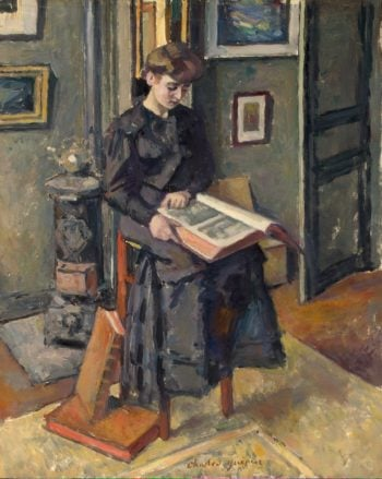 Young Girl with a Book | Guerin Charles | oil painting