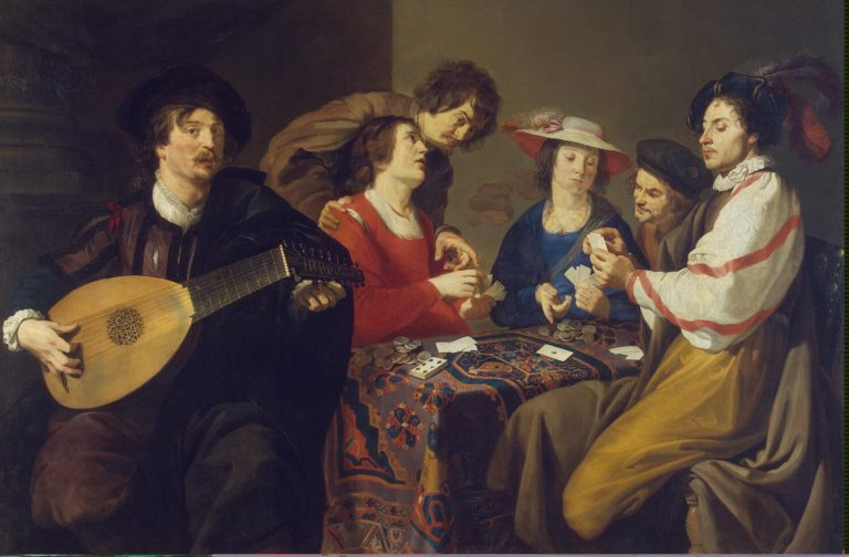 Card Game | Rombouts Theodor | oil painting