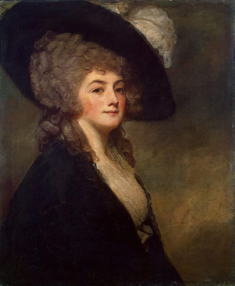 Portrait of Mrs Harrit Greer | Romney George | oil painting