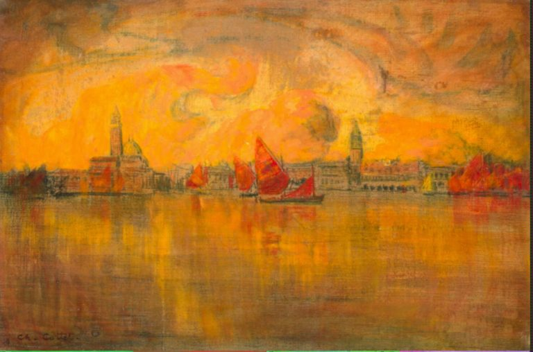 View of Venice from the Sea | Cottet Charles | oil painting