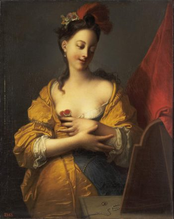 Young Woman in front of a Mirror | Courtin Jaques-Francois | oil painting