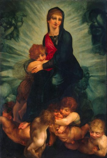 The Virgin and the Child with Angels | Rosso Giovanni Battista (Rosso Fiorentino) | oil painting