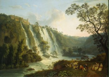 Villa of Maecenas and the Waterfalls at Tivoli | Hackert Jakob Philipp | oil painting