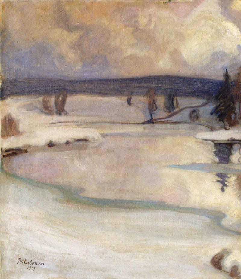 Winter Landscape   Halonen Pekka   oil painting