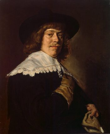 Portrait of a Young Man Holding a Glove | Hals Frans | oil painting