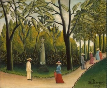 Luxembourg Gardens. Monument to Chopin | Rousseau Henri | oil painting