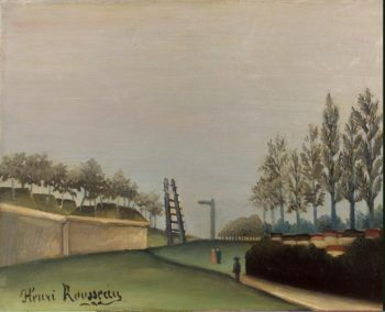 View of the Fortifications to the left of the Gate of Vanves | Rousseau Henri | oil painting