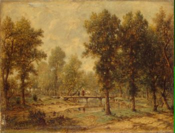 Landscape with a Bridge | Rousseau Theodore | oil painting