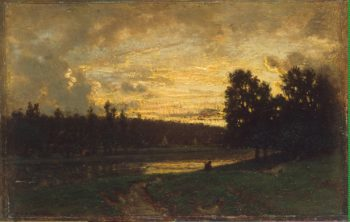 Landscape with a Sunset | Rousseau Theodore | oil painting
