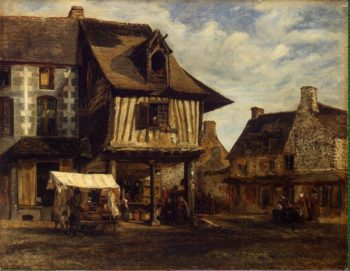 Market-Place in Normandy | Rousseau Theodore | oil painting